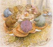 The Toads' Tea Party, c. 1905 Copyright © Frederick Warne & Co., 1955