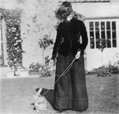 Beatrix Potter with Benjamin Bunny on a lead Courtesy of private collector